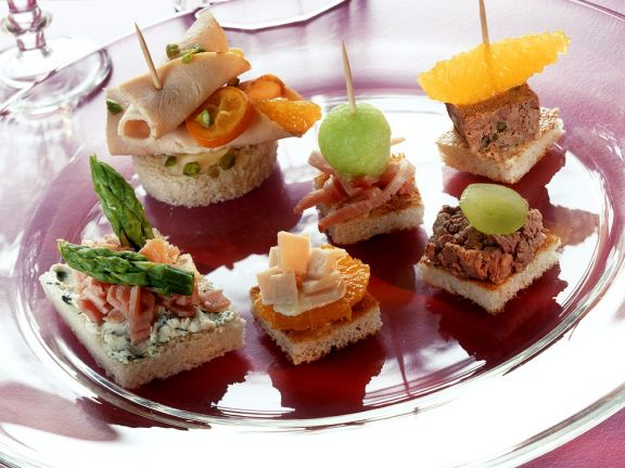 Canape-Variationen & Croutons
