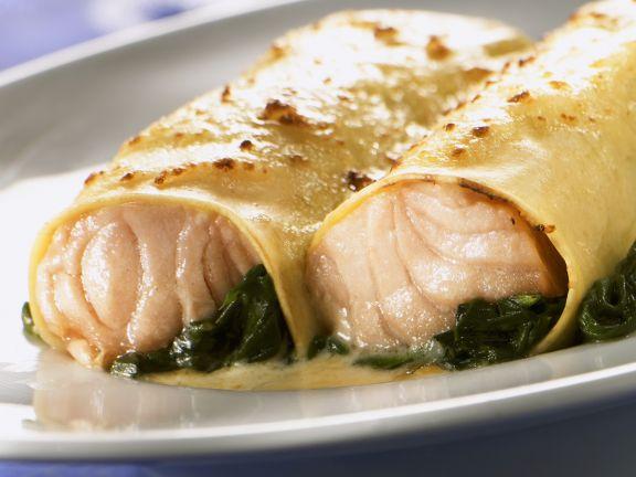 Cannelloni mit Lachs-Spinat-Füllung