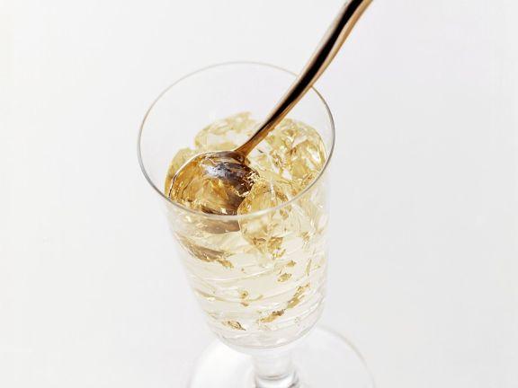 Champagner-Blattgoldgelee