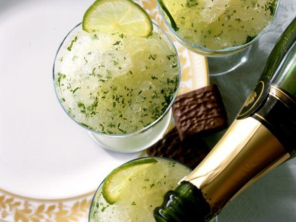 Champagner-Granité mit Limetten