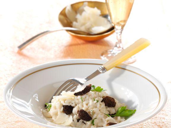 Champagner-Risotto mit Morcheln