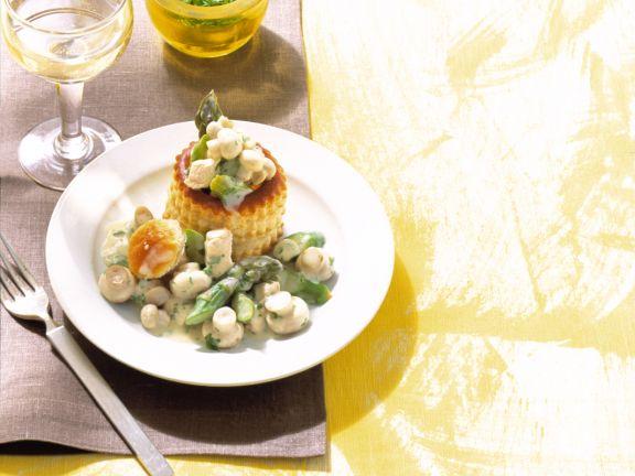Champignon-Geflügel-Ragout