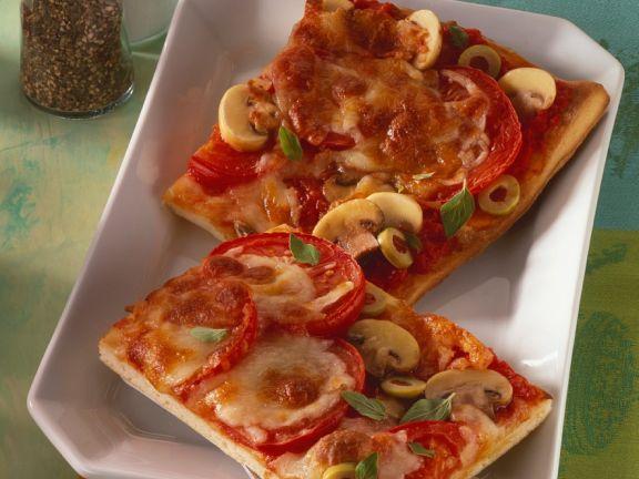 Champignon-Pizza vom Blech