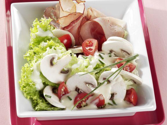 Champignon-Salat mit Schwarzwälder Schinken