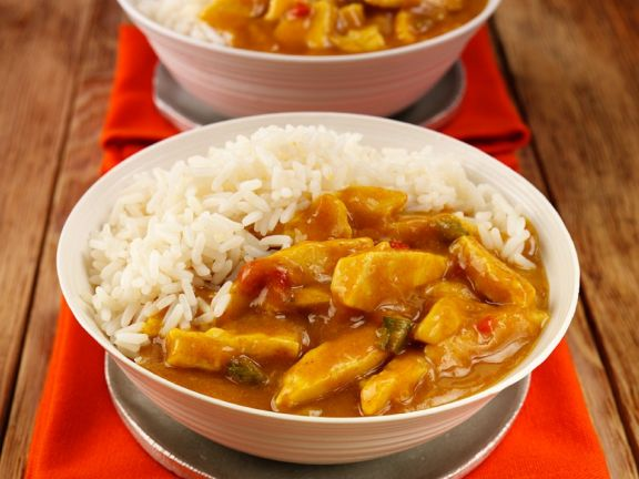 Chicken Curry mit Reis