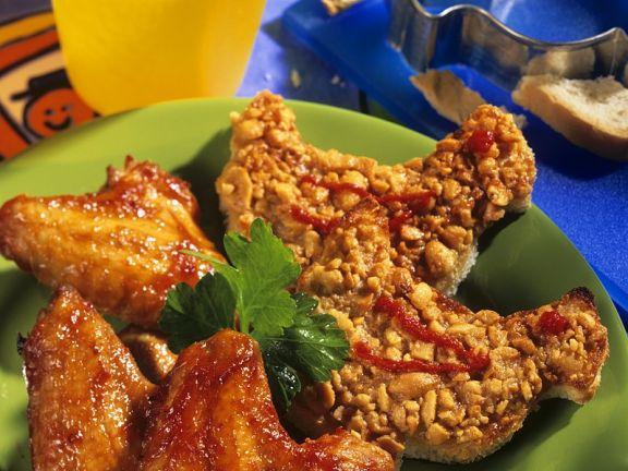 Chicken Wings mit Knusper-Brot