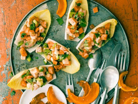 Chicorée mit Lachs-Ceviche