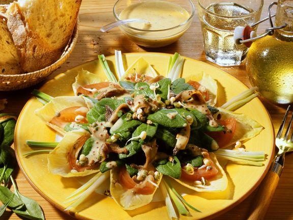 Chicorée-Spinatsalat