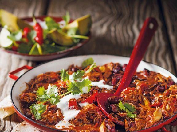 Chili con carne mit Hähnchenfleisch