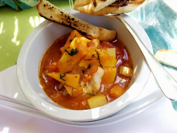 Chili-Fischsuppe