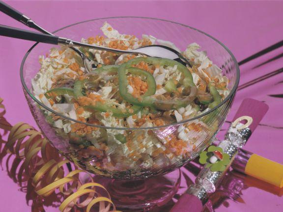 Chinakohl-Linsen-Salat