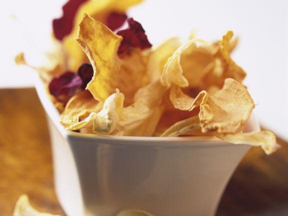 Chips aus verschiedenen Gemüsesorten