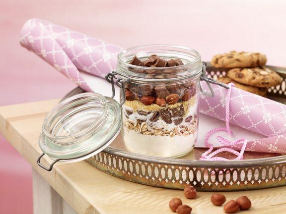Chocolate Chip Cookies mit Haselnüssen