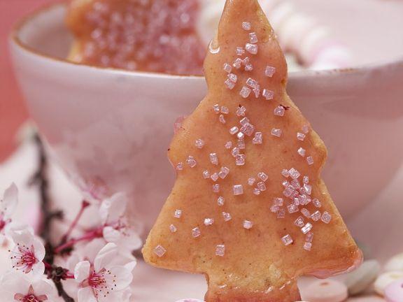Christbaumplätzchen mit Brause-Glasur