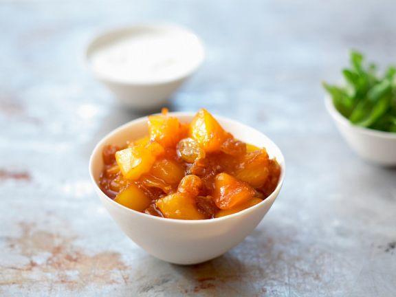 Chutney aus Mango und Ingwer