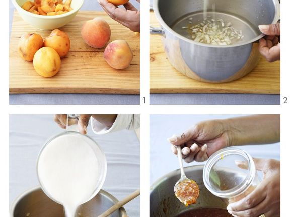 Chutney aus Pfirsichen herstellen