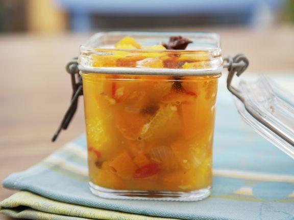 Chutney mit Orangen und Kürbis