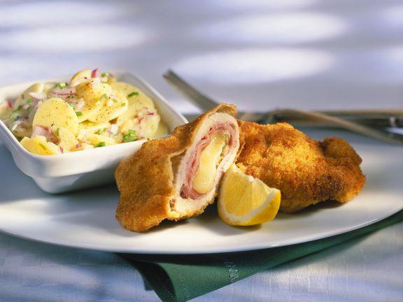 Cordon bleu mit Kartoffel-Radieschensalat