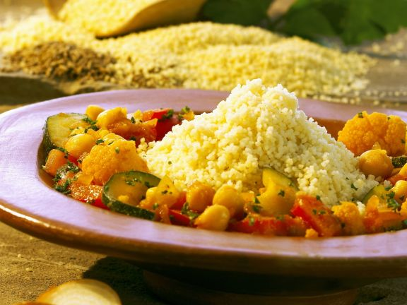 Couscous mit buntem Gemüse