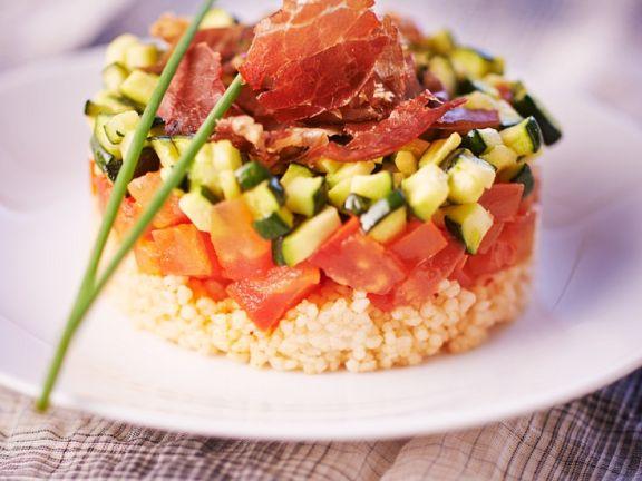 Couscous mit Gemüse und Schinken