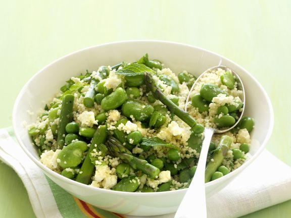 Couscous mit grünem Gemüse