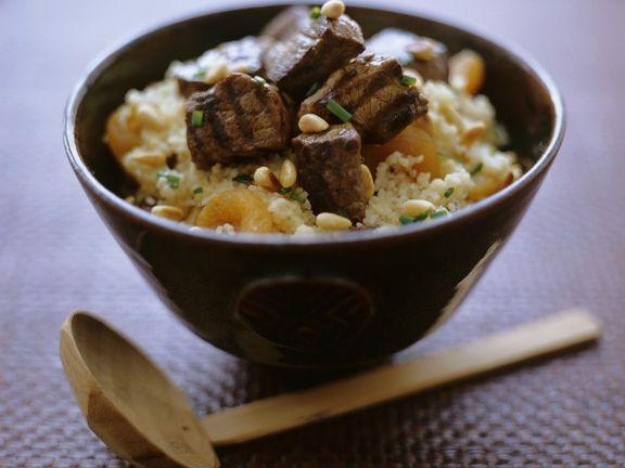 Couscoussalat mit Rindfleisch