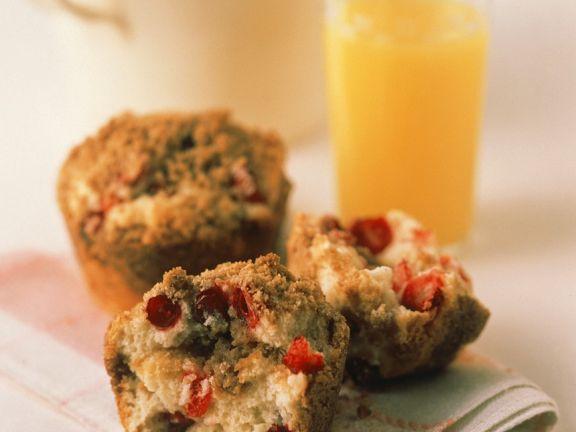 Cranberry-Vanillemuffins