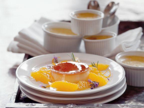 Crème Caramel mit Orangenfilets (Crème au Caramel)