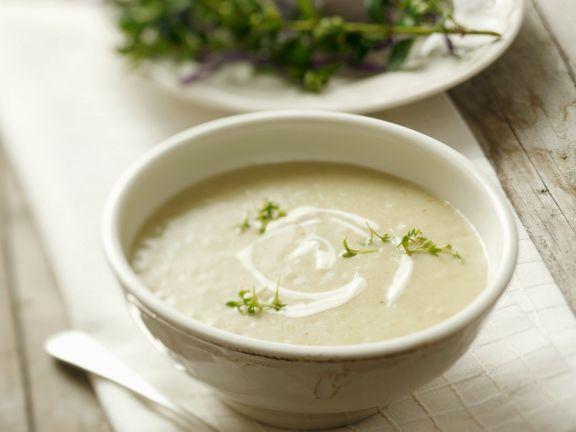 Cremige Kartoffel-Chicorée-Suppe