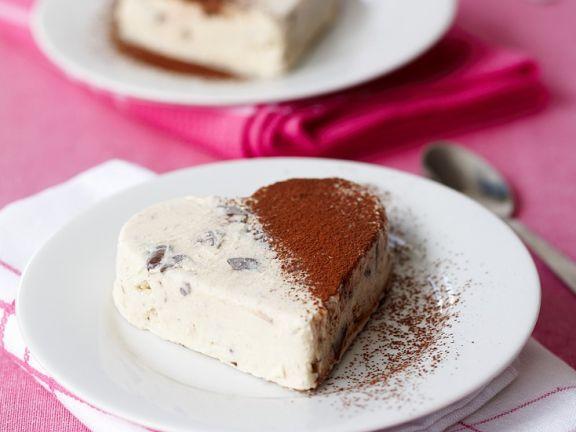 Cremiges Parfait mit Schokolade