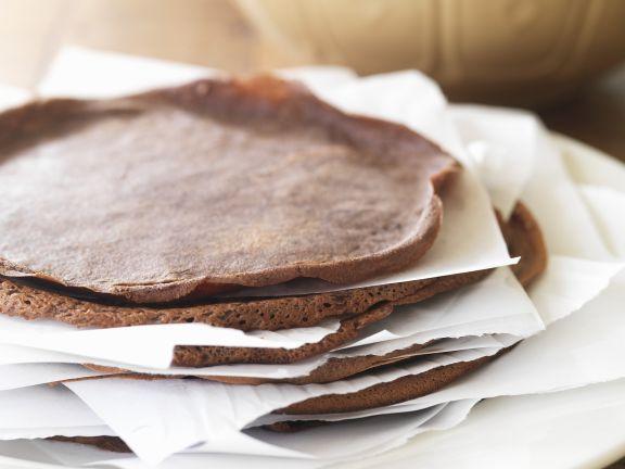 Crêpes aus Schokoladenteig