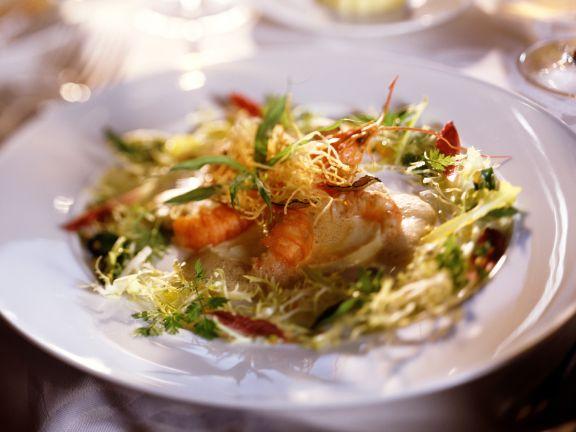 Crevetten mit Portweinschaum