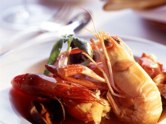 Crevetten-Muschelsuppe
