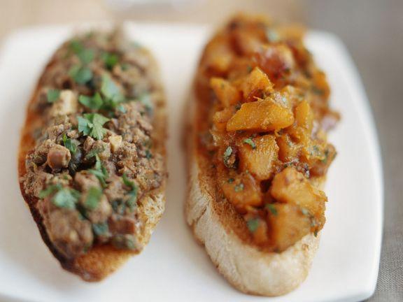 Crostini mit Leber oder Süßkartoffeln