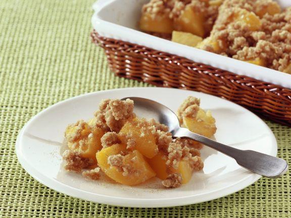 Crumble mit Pfirsichen