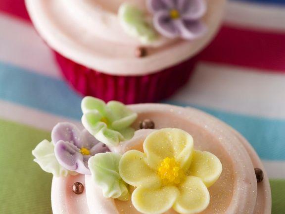 Cupcakes mit Blüten