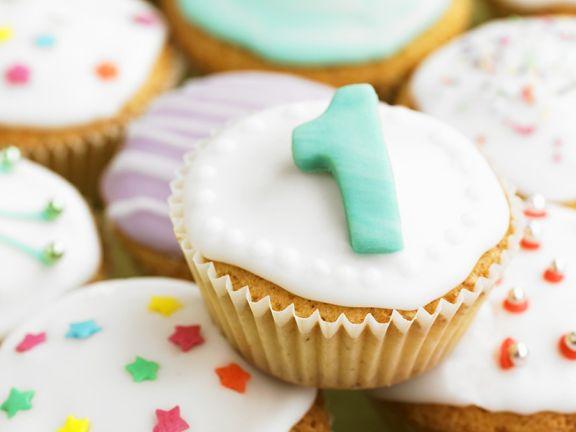 Cupcakes mit Fondantglasur