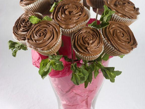 Cupcakes mit Schokolade