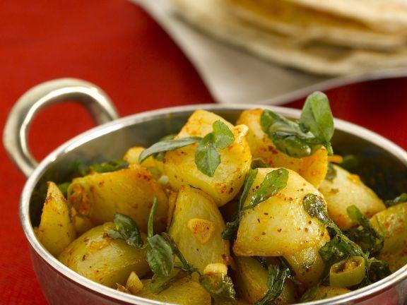 Curry-Kartoffeln mit Bockshornklee