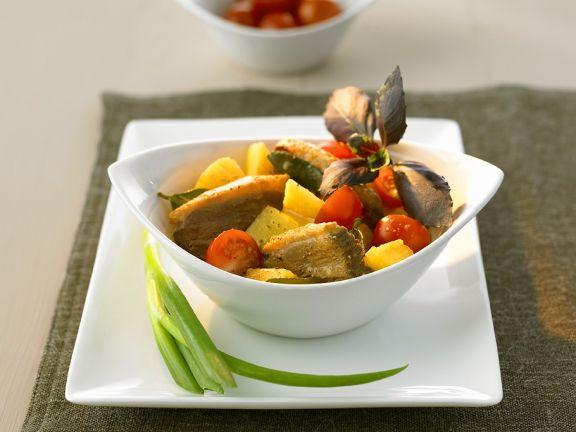 Curry mit Ente und Ananas