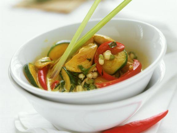 Curry mit Geflügel