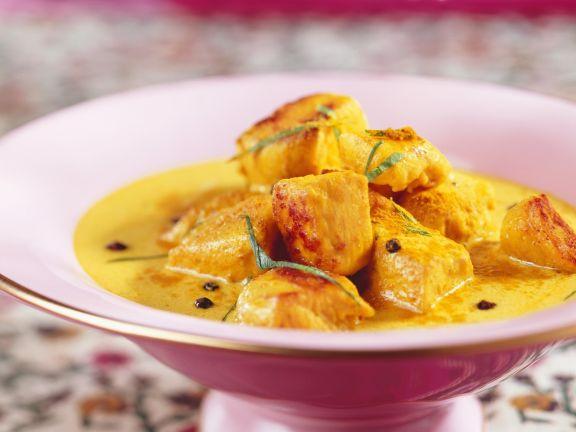 Curry mit Hähnchen
