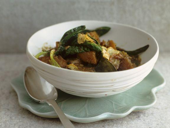Curry mit Wildentenfleisch