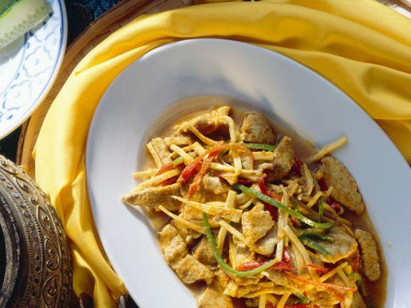 Curry-Schweinefleisch mit Gemüse