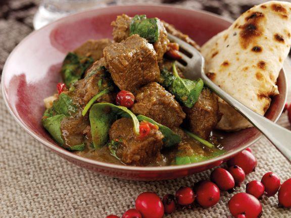 Curry vom Walisischen Lamm (g.g.A.) mit Cranberries