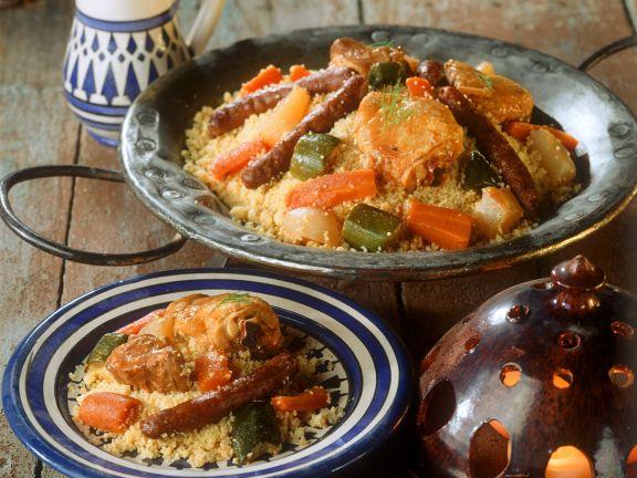 Deftiges Cosucous mit Fleisch und Gemüse