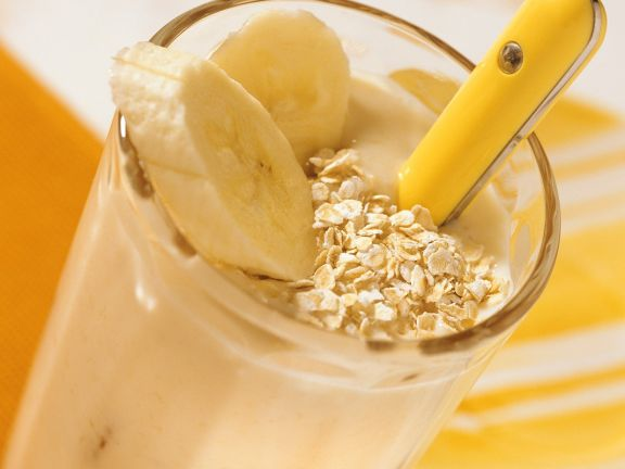 Dickmilch mit Banane