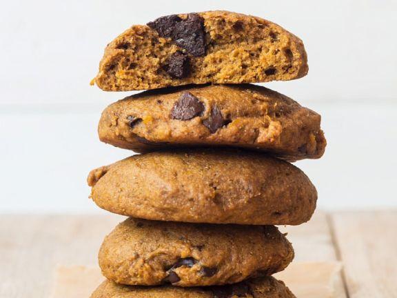 Dinkelplätzchen mit Kürbis und Schokolade (vegan)