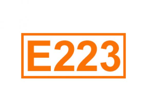 E 223 ein Konservierungsstoff