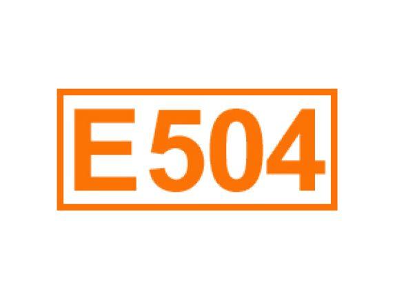 E 504 ein Säureregulator